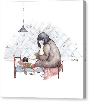 Illustrations Canvas Print - Mama by Soosh