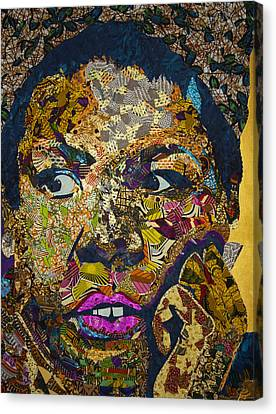 Canvas Print featuring the tapestry - textile Mama's Watching by Apanaki Temitayo M