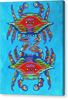 Mambo Crabs Canvas Print by JoAnn Wheeler