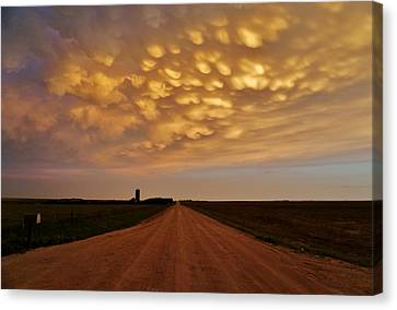 Mammatus Road Canvas Print by Ed Sweeney