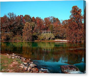 Mammoth Springs Canvas Print by Rick Friedle