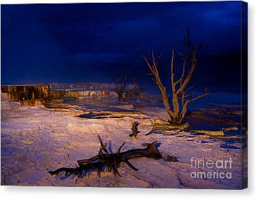 Mammoth Upper Terrace Light Painted V1 Canvas Print