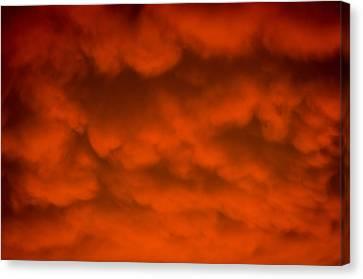 Mammutus Clouds Sunset Canvas Print