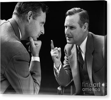 Man Arguing With Himself, C.1930s Canvas Print by H. Armstrong Roberts/ClassicStock