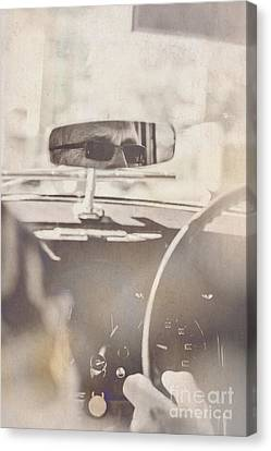 Man Driving Vintage Car Canvas Print by Jorgo Photography - Wall Art Gallery