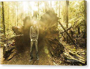 Eco-tourism Canvas Print - Man Exploring Mt Field National Park by Jorgo Photography - Wall Art Gallery