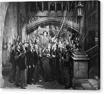 Man Gets Hero's Welcome Canvas Print by Underwood Archives