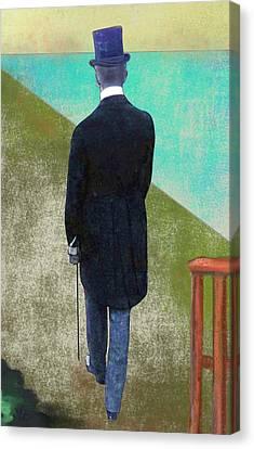 Man In Hat Canvas Print