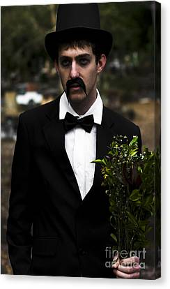 Man In Mourning Canvas Print by Jorgo Photography - Wall Art Gallery
