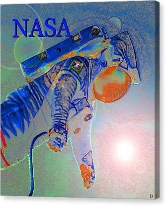 Man In Space Canvas Print