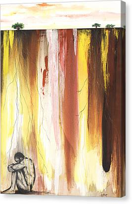 Man In The Corner  Canvas Print by Anthony Burks Sr