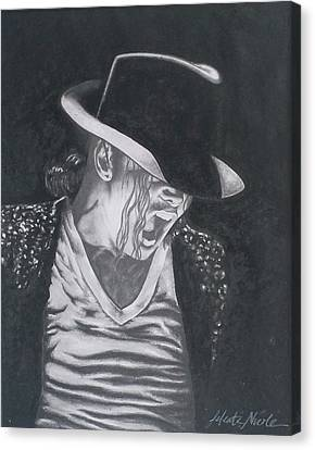 Man In The Mirror - Michael Jackson Canvas Print by Jeleata Nicole