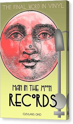 Man In The Moon Canvas Print by Steven Boland