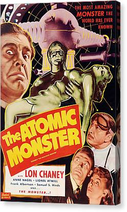 Horror Fantasy Movies Canvas Print - Man Made Monster, Aka The Atomic by Everett