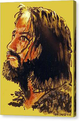 Man Of Sorrows Canvas Print by Seth Weaver