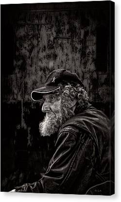 Contemplation Canvas Print - Man With A Beard by Bob Orsillo