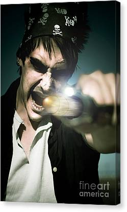 Man With Gun Canvas Print by Jorgo Photography - Wall Art Gallery