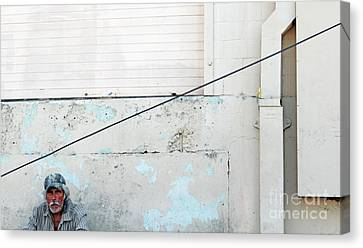 Man With Striped Shirt Canvas Print by Joe Jake Pratt