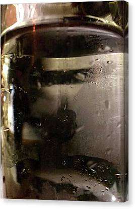 Man With Tray Walking Past Water Bottle Canvas Print by Anna Villarreal Garbis
