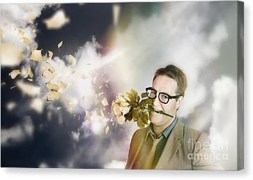 Man With Valentines Day Love And Romance Canvas Print by Jorgo Photography - Wall Art Gallery