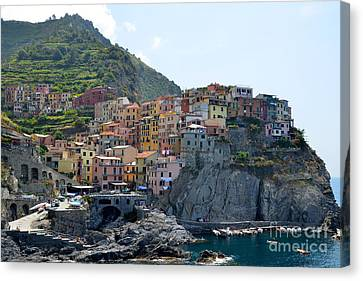 Manarola Canvas Print by Corinne Rhode