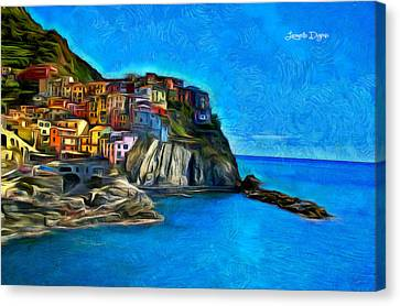 Manarola - Da Canvas Print by Leonardo Digenio