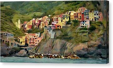 Manarola Canvas Print by Jeff Kolker