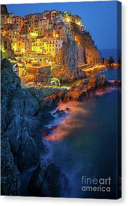 Manarola Lights Canvas Print by Inge Johnsson