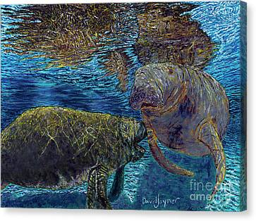 Manatee Motherhood Canvas Print