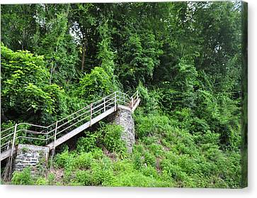 Manayunk - Steps From The Wissahickon Train Station Canvas Print by Bill Cannon