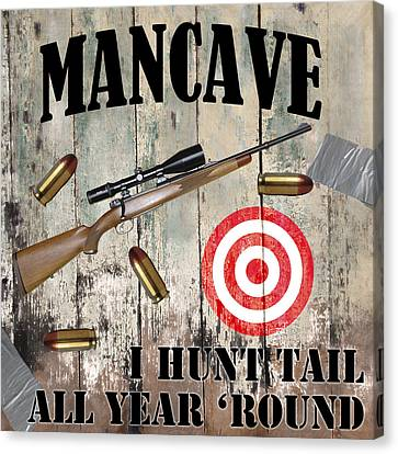 Mancave Hunt Tail Canvas Print by Mindy Sommers