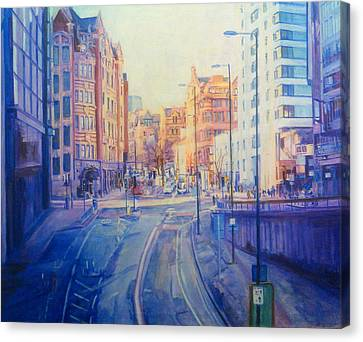 Manchester Light And Shade Canvas Print