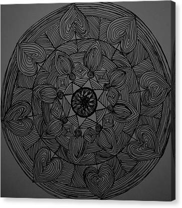 Mandal 1 Canvas Print by Usha Rai