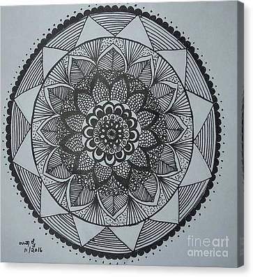 Mandal Canvas Print by Usha Rai