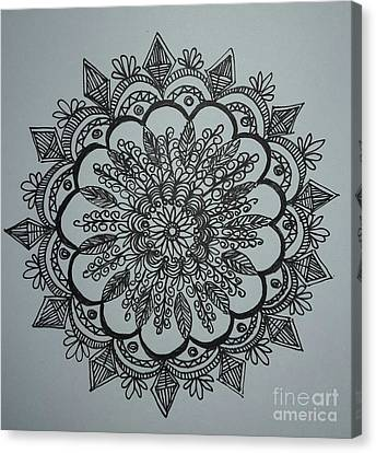 Mandal2 Canvas Print by Usha Rai