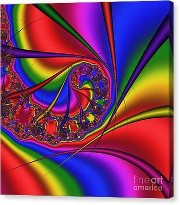 Mandala 163 Canvas Print by Rolf Bertram