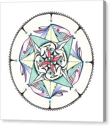 Mandala Canvas Print by Alla Ilencikova