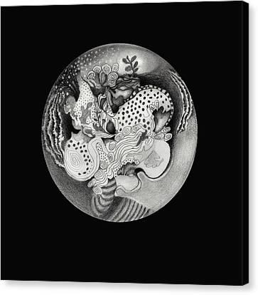 Mandala Canvas Print by Ann Powell