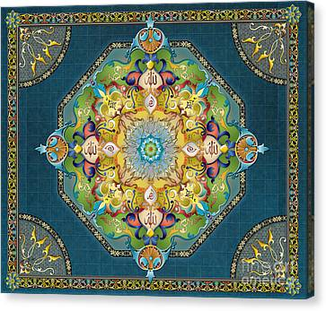 Mandala Arabesque Sp Canvas Print by Bedros Awak