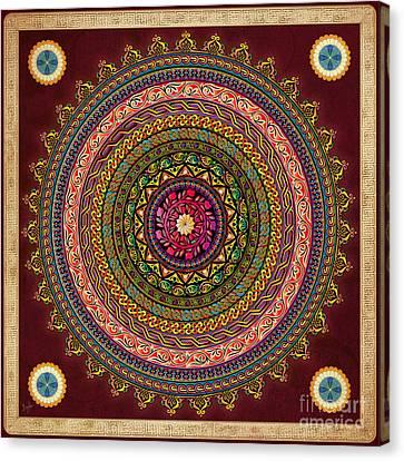 Mandala Armenian Decorative Art - Bordeaux Version Canvas Print
