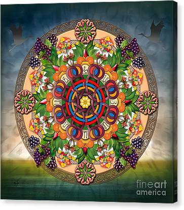 Mandala Armenian Grapes Canvas Print by Bedros Awak