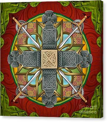 Mandala Celtic Glory Canvas Print by Bedros Awak