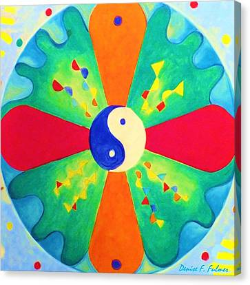Canvas Print featuring the painting Mandala by Denise Fulmer