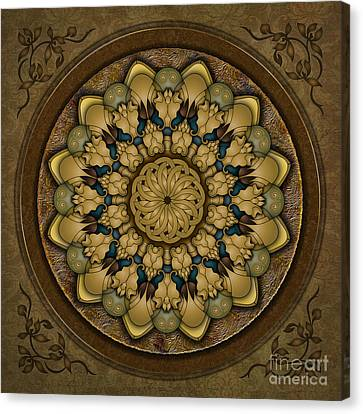 Mandala Earth Shell Canvas Print