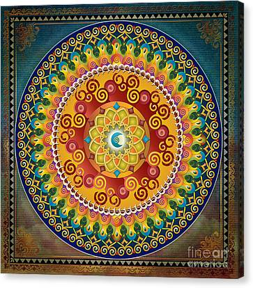 Mandala Epiphaneia Canvas Print by Bedros Awak