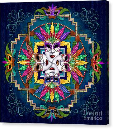 Mandala Festival Masks V1 Canvas Print by Bedros Awak