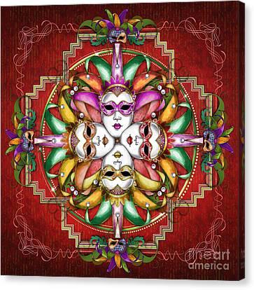 Mandala Festival Masks V2 Canvas Print by Bedros Awak