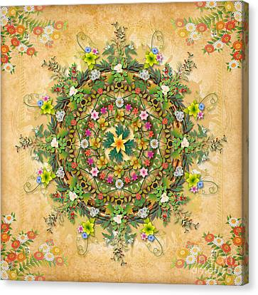 Mandala Flora Canvas Print