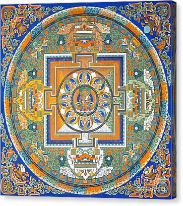 Mandala From Lhasa Canvas Print by Birgit Moldenhauer