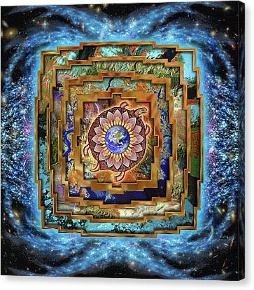 Mandala Gaia Canvas Print by Mark Myers